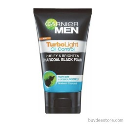Garnier Men Turbo Light Oil Control Purify Brighten Charcoal Black Foam 100ml