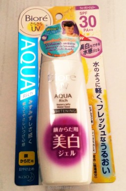 Biore UV Aqua Rich Watery Jelly Water Base Whitening SPF30 PA++ 90ml