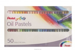 Pentel Oil Pastels 49 Colours in 50 Regular Size Sticks
