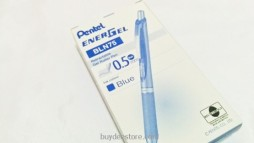Pentel EnerGel Deluxe RTX Retractable Liquid Gel Pen, Fine Line, Needle Tip, Blue Ink, Box of 12 (BLN75-C)