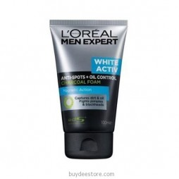 L'oreal Men Expert White Activ Anti-Spots Oil Control Charcoal Foam Magnetic Action 100mL