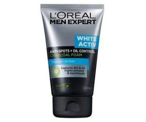 L'oreal Men Expert White Activ Anti-Spots Oil Control Charcoal Foam Magnetic Action 100mL