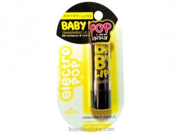 Maybelline Baby Lips Electro Pop No Color Lemon Flavor Fierce N Tangy 3.5g