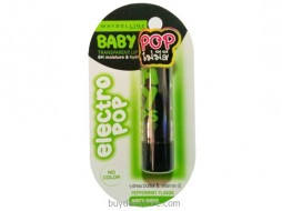 Maybelline Baby Lips Electro Pop No Color Peppermint Flavor Minty Sheer 3.5g