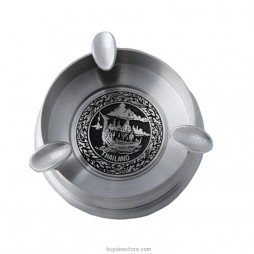 Disc Ashtray Pewter 9.5 x 2.6cm