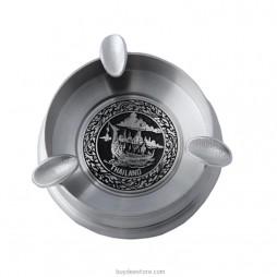 Disc Ashtray Pewter 9.5 x 2.6cm
