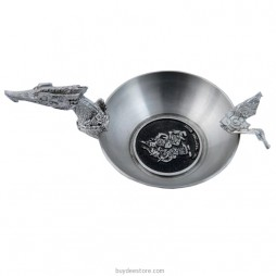 Supannahong Ashtray Pewter 6.1 x 4.8cm