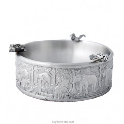 Elephant Ashtray Pewter 11.0 x 4.0cm