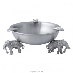 Elephant Ashtray Pewter 11.2 x 4.2cm