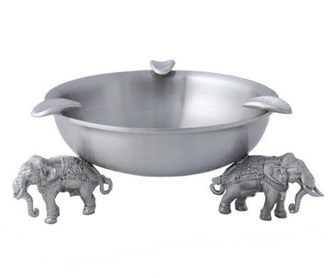 Elephant Ashtray Pewter 11.2 x 4.2cm