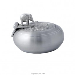 Elephant Ashtray Pewter 5.5 x 4.0cm