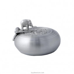 Elephant Base Ashtray Pewter 9.1 x 3.1cm