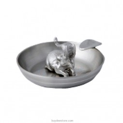 Elephant Inside Ashtray Pewter 7.0 x 3.0cm