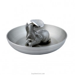 Elephant Ashtray Pewter 7.0 x 3.0cm