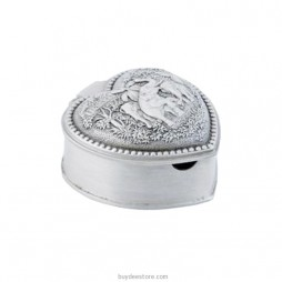 Hearth Box With Lid Ashtray Pewter 5.8 x 3.2cm