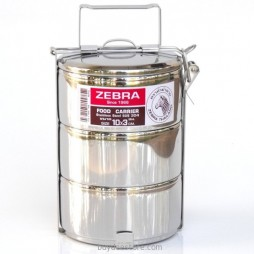 Stainless Steel Tiffin Food Carrier 10cm x 3 pots