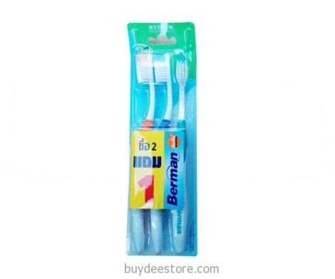 Berman Active Medium Soft Bristles Toothbrush 3 pcs