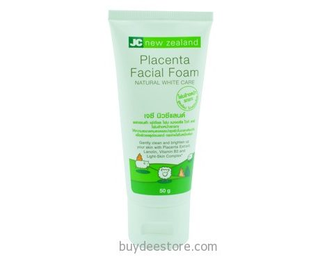 JC New Zealand Placenta Facial Foam Natural White Care 50g