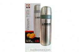 Vacuum Flask Prima II Stainless Steel 0.35 Litre with Carry bag
