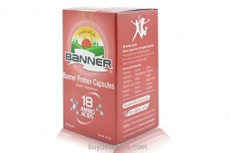 Banner Protein Capsules 18 Amino Acids Dietary Supplement 50 Capsules
