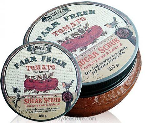 Farm Fresh Tomato Skin Renewal Sugar Scrub Cranberry Seed and Jojoba Oil 180g