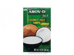 Aroy-D Coconut Milk UHT 100% Original 250ml