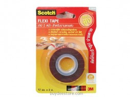 3M Scotch Flexi Tape Double-Sided UV Protection 12mm x 2m 1 Roll