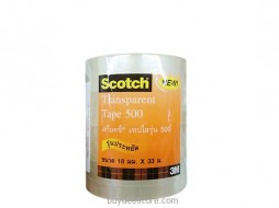 3M Scotch Transparent Tape 500 18mm x 33m 4 Roll/Pack