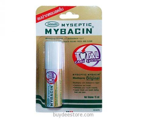 Myseptic Mybacin Total Care System Mouthspray Original Antibacterial Agent 15mL