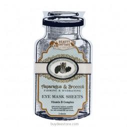 Asparagus & Broccoli Firming & Hydrating Eye Mask Sheets Vitamin B Complex 2 Sheets