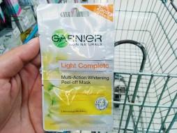 Garnier Skin Naturals Light Complete Multi-Action Whitening Peel-off Mask 2 Doses