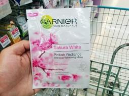 Garnier Skin Naturals Sakura White Pinkish Radiance Intensive Whitening Mask 1 Doses