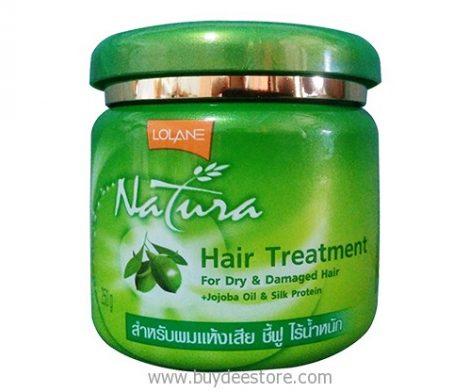 Lolane Natura Hair Treatment For Dry & Damaged Hair +Jojoba Oil & Silk Protein 250g