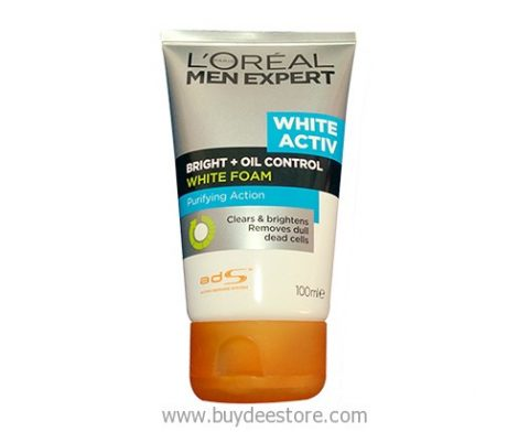 L'oreal Men Expert White Activ Bright Oil Control White Foam Purifying Action 100mL