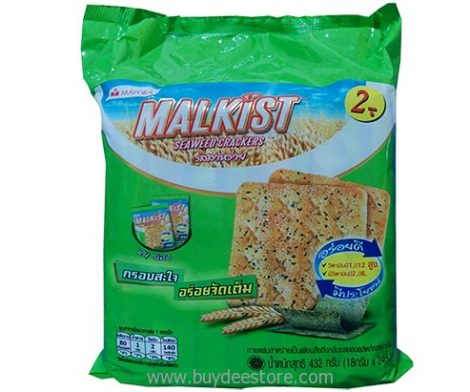 Mayora Malkist Seaweed Flavoured Crackers 18g x 24 Pcs.