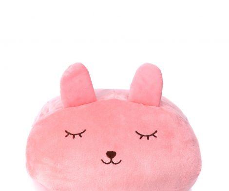 ZEENZONE Huggable Rabbit Plush Pillow Pink