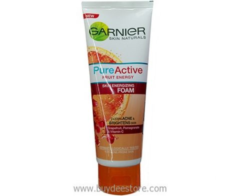 Garnier Skin Naturals Pure Active Fruit Energy Skin Energizing Foam 100mL