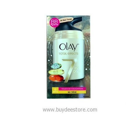 Olay Total Effects 7 in One BB Cream All Skin Tones SPF15 Touch of Foundation 50g