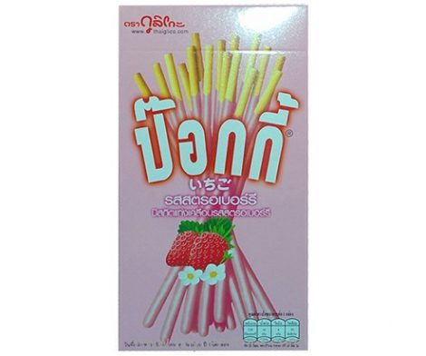 Pocky Strawberry Flavour Biscuit Stick Coated with Strawberry Flavour Confectionery 45g