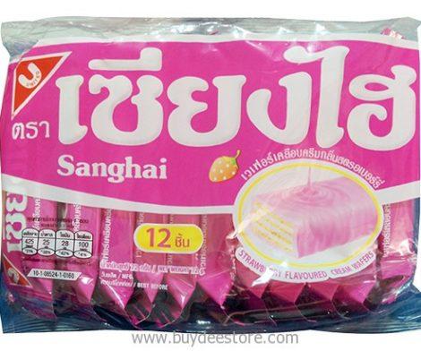 Sanghai Strawberry Flavoured Cream Wafers 6g x 12pcs (72g)