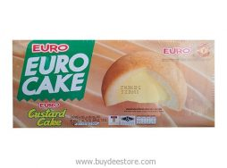 Euro Custard Cake Puff Cake and Sweet Custard Cream 17g x 12 psc (204g)