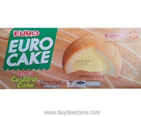 Euro Custard Cake Puff Cake and Sweet Custard Cream 17g x 12 psc (204g)