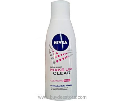 Nivea Extra Bright Make Up Clear Cleansing Milk 200mL