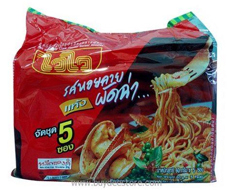 Wai Wai Pad Char Baby Clam Flavour Instant Noodles 60g x 5 packs
