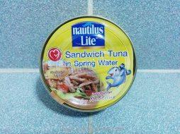 Nautilus Lite Sandwich Tuna in Spring Water 185g