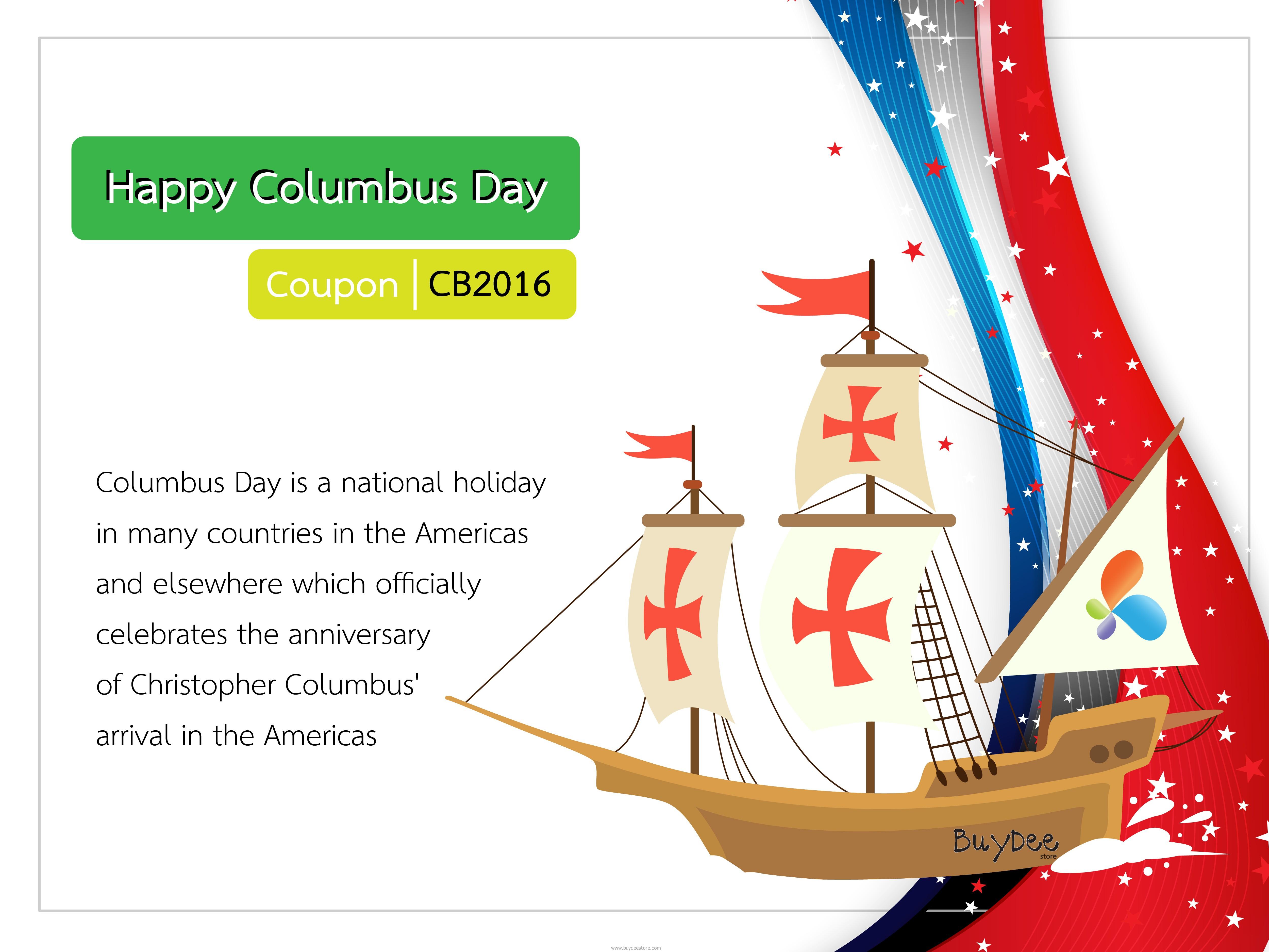 Columbus Day 10%OFF Discount Coupon Code