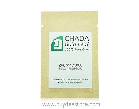 CHADA Gold Leaf 100% Pure Gold 24k 999/1000 20 Sheets 4x4cm